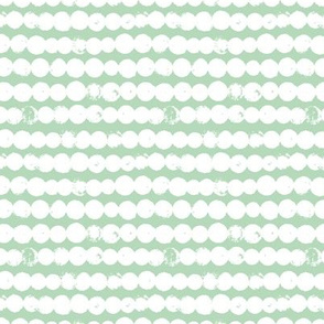 Circles and rows cool Scandinavian style dots brush strings gender neutral mint green