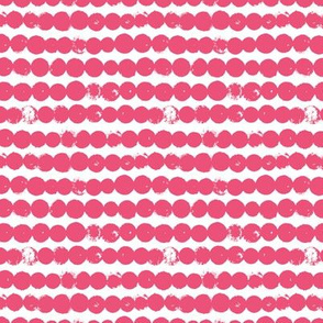 Circles and rows cool Scandinavian style dots brush strings gender pink