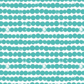 Circles and rows cool Scandinavian style dots brush strings soft water blue