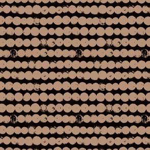 Circles and rows cool Scandinavian style dots brush strings gender neutral black cappucino