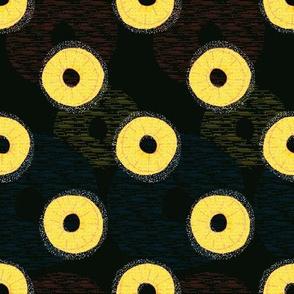 Pineapple Rings on black