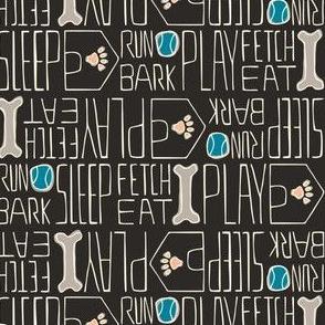 Dog's Life - Pets Black & Dark Teal