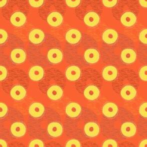 Pineapple Rings on red
