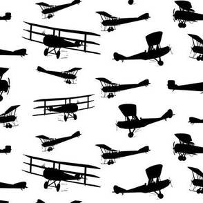 Vintage Airplane Silhouettes