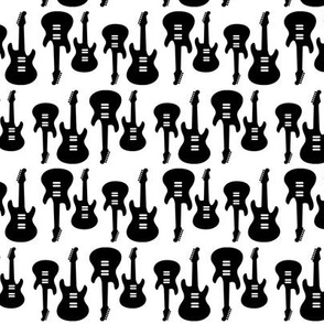 Vintage Electric Guitars in B&W