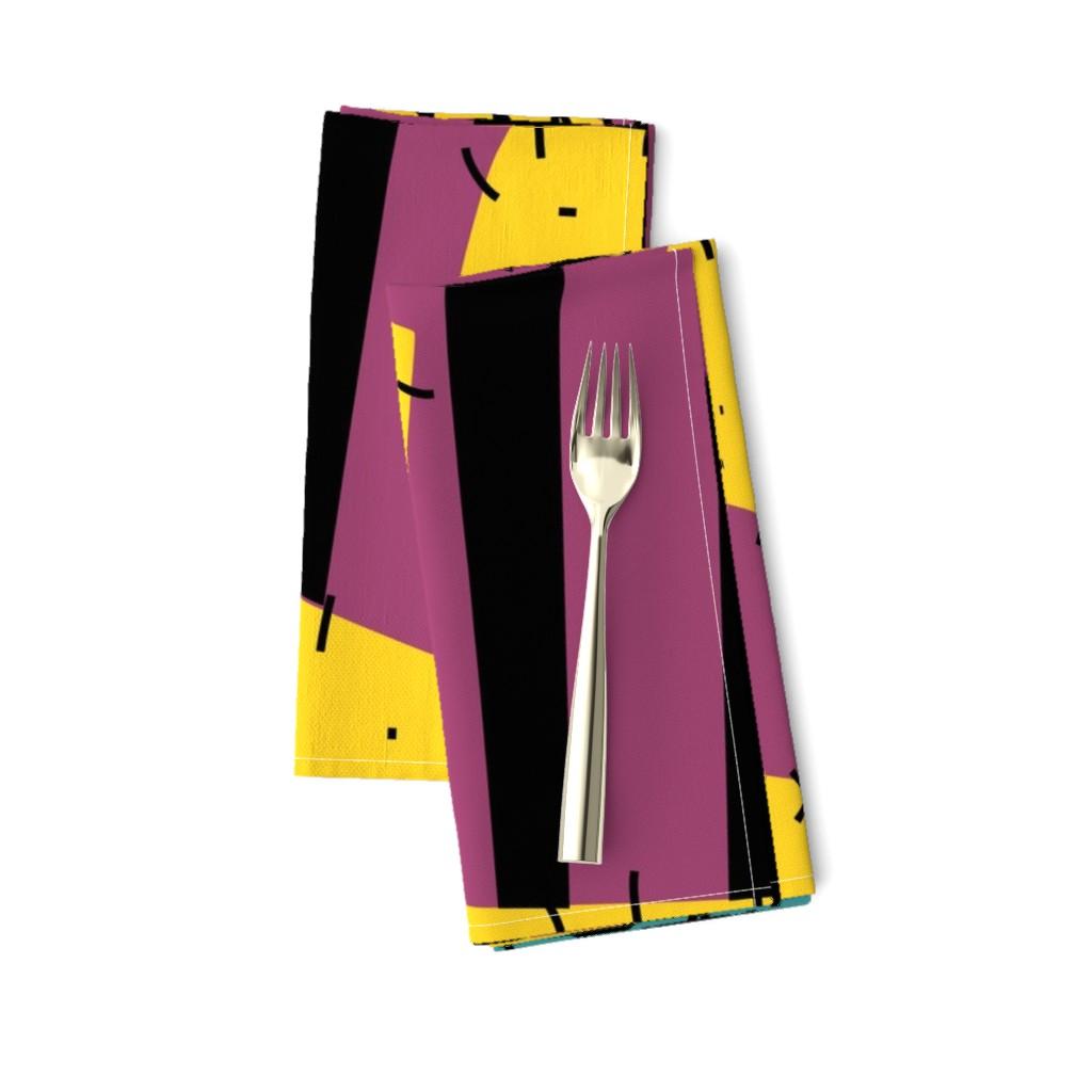 "Amarela Dinner Napkins featuring Halloween Patchwork Rag Doll 36"" Repeat by ellegarrettdesigns"