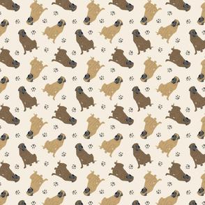Tiny Mastiffs - tan