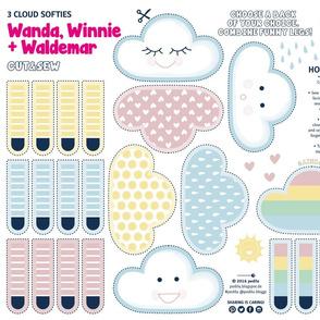 Softies Wi-Wa-Wolken ♥ Cut&Sew