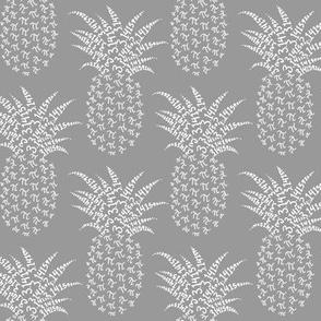 pi-napple pineapple in neutral grey