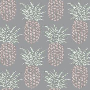 pi-napple pineapple - grey, cucumber and peach
