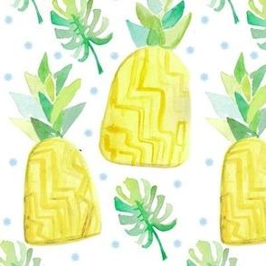 Watercolor Pineapple Fruit