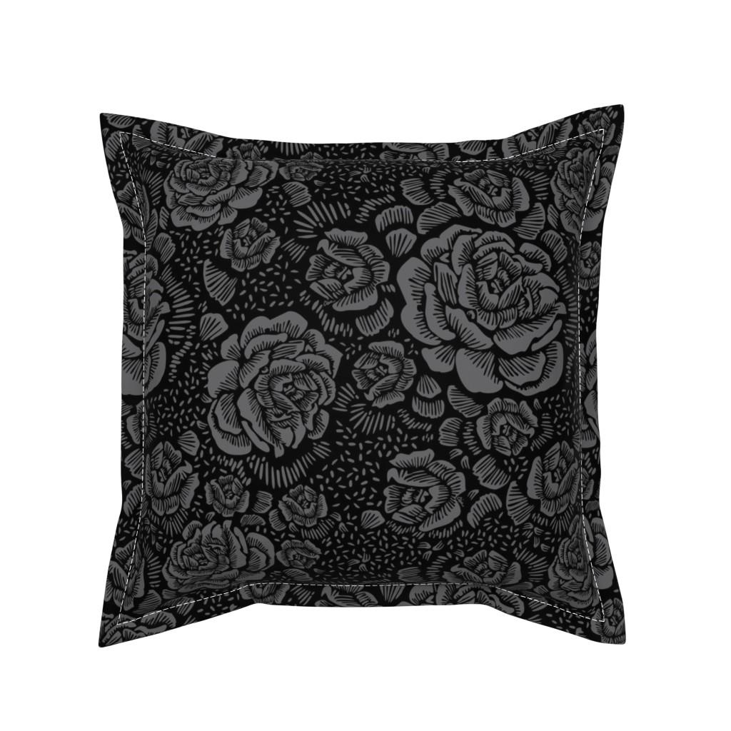 Serama Throw Pillow featuring Madalynne x C.Banning by cinneworthington