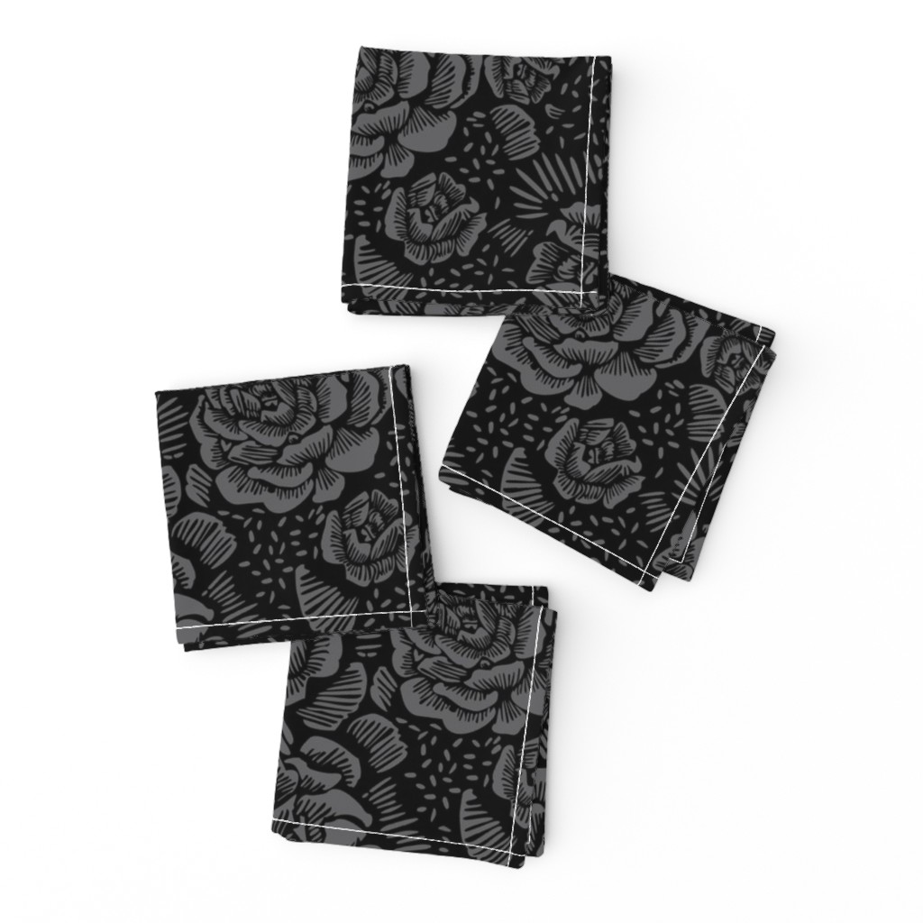 Frizzle Cocktail Napkins featuring Rose remix dark by cinneworthington