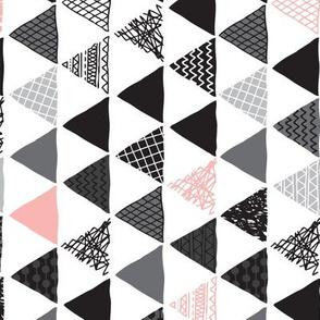 Geometric tribal aztec triangle pink modern patterns