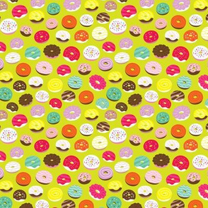 Cute summer donuts birthday party sweet candy bakery illustration print XS