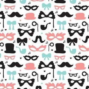 Theater mustache hipster geek great gatsby theme XS