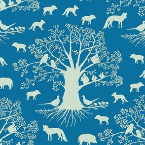 animal silhouette blue