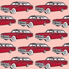 1960 Edsel Villager station wagon red on peach