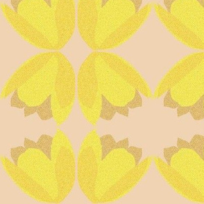 POINTALLISM TULIP yellow