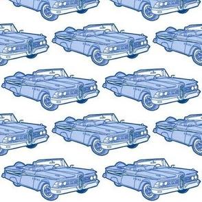 blue 1959 Edsel Corsair convertible