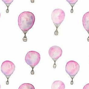 dreamy watercolor hot air balloons