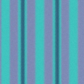 Turquoise Lavender and Teal Stripe
