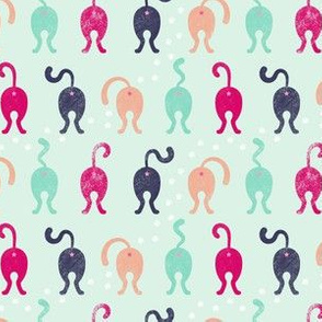 Cat Butts - Mint Pink