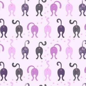 Cat Butts - Purple Gray