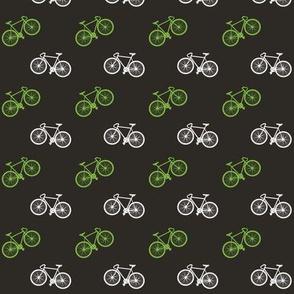 Bicycle Print - Lime