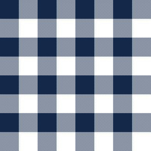 "1"" navy and white gingham check"