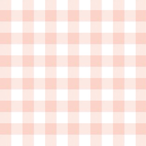 "pale coral 5/8"" gingham check"