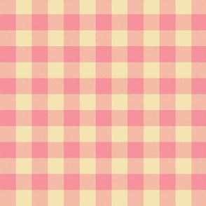 "pink creamsicle 5/8"" gingham check"