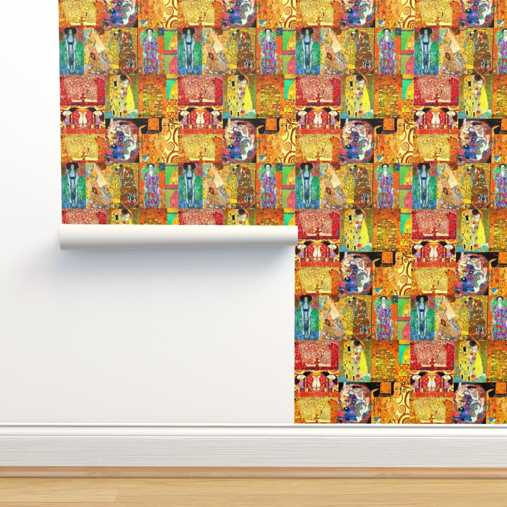Isobar Durable Wallpaper featuring Gustave Klimt Art by artland95