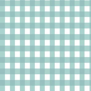 Gingham blue fabric
