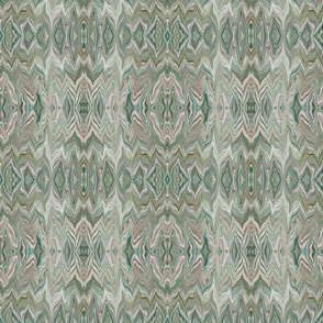 DRSC1 - Marbled Chevrons in Teal - Mauve - Pink - Reflected - Small