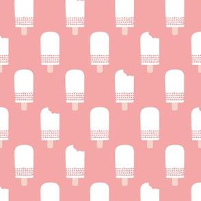 Scandinavian retro popsicle ice cream summer illustration pattern pastel pink