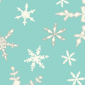Snowflakes - Large - Ivory, CATurq