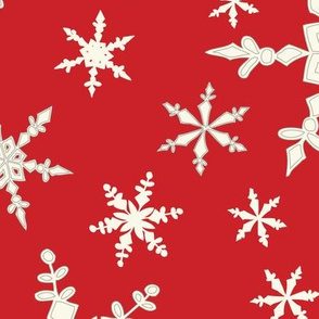 Snowflakes - Large - Ivory, ARed
