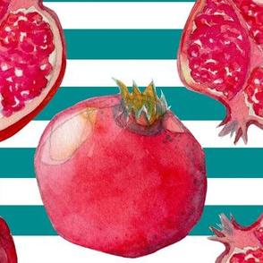 Pomegranate blue/white
