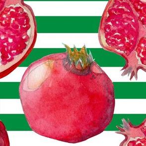 Pomegranate green/white