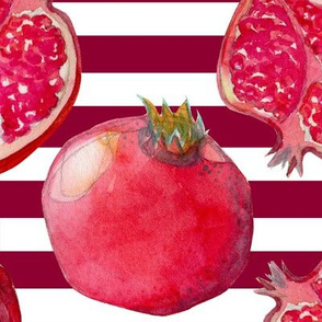 Pomegranate maroon/white