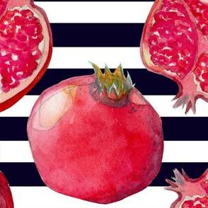 Pomegranate navy/white