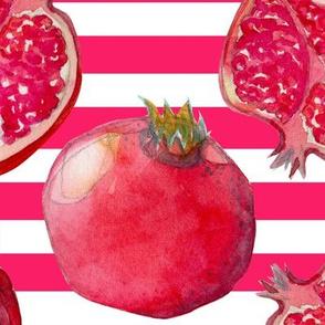 Pomegranate pink/white