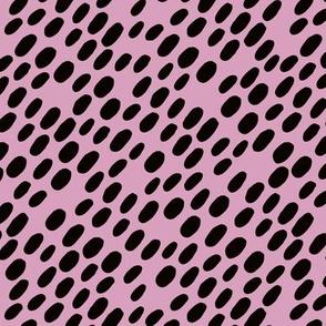 Animal dalmatian skin spots and dots scandinavian style design abstract circle black purple