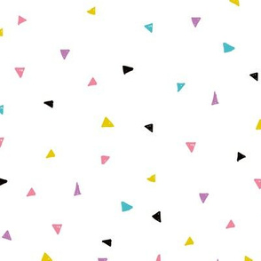 Sweet geometric triangles cool abstract Scandinavian design multi colored