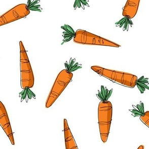 Wonky Carrots - orange