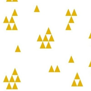 Triangles - mustard yellow gold || by sunny afternoon