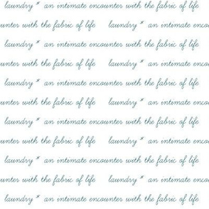 fabric of life saying - teal