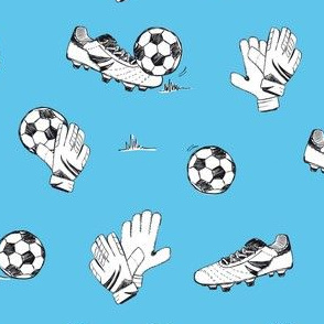 Soccer match baby blue