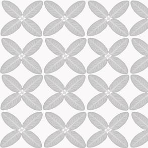 Grey leaf geometric pattern